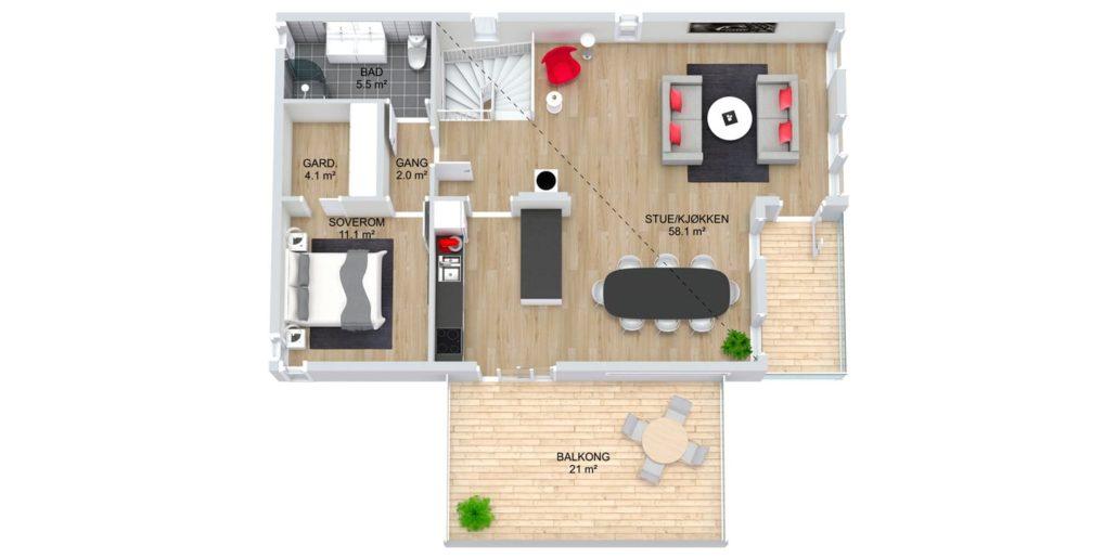 Fanevik bygg - Signaturhus 303 Instetunet