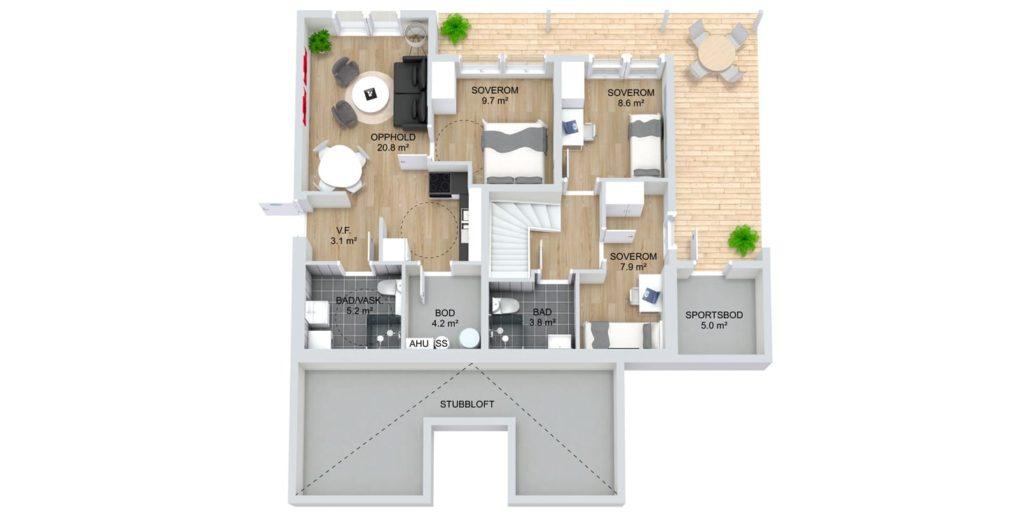Fanevik bygg - Signalhus 306 Instetunet
