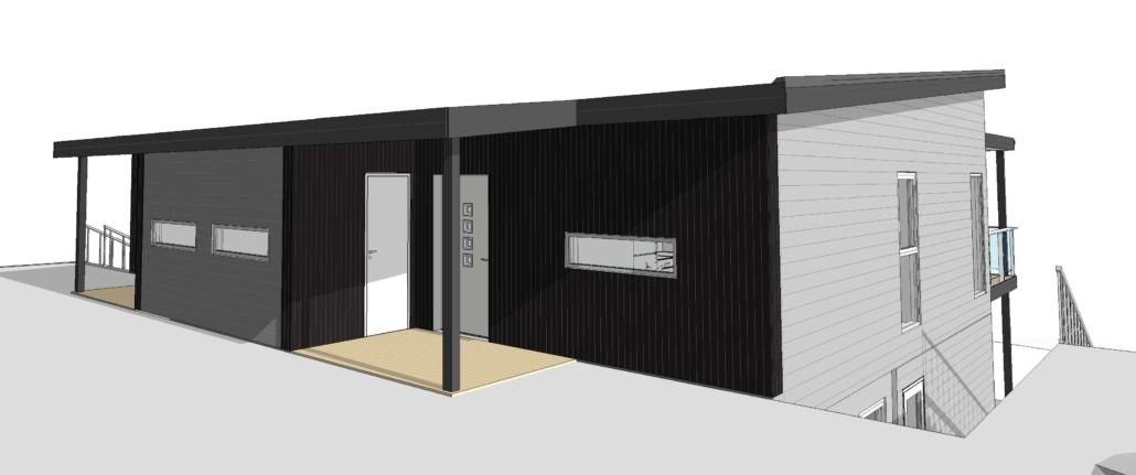 Fanevik bygg - Tomannsbustad nr 7 og 11 - Instetunet - 3D bilde 3