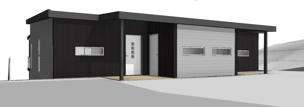 Fanevik bygg - Tomannsbustad nr 7 og 11 - Instetunet - 3D bilde 4