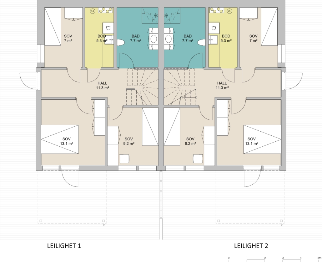 Fanevik bygg - Tomannsbustad nr 7 og 11 - Instetunet